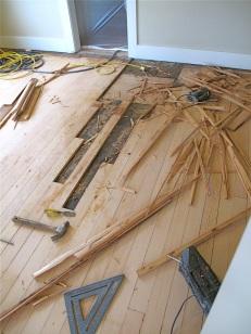 Floor Repairs - Replacing Damaged Boards